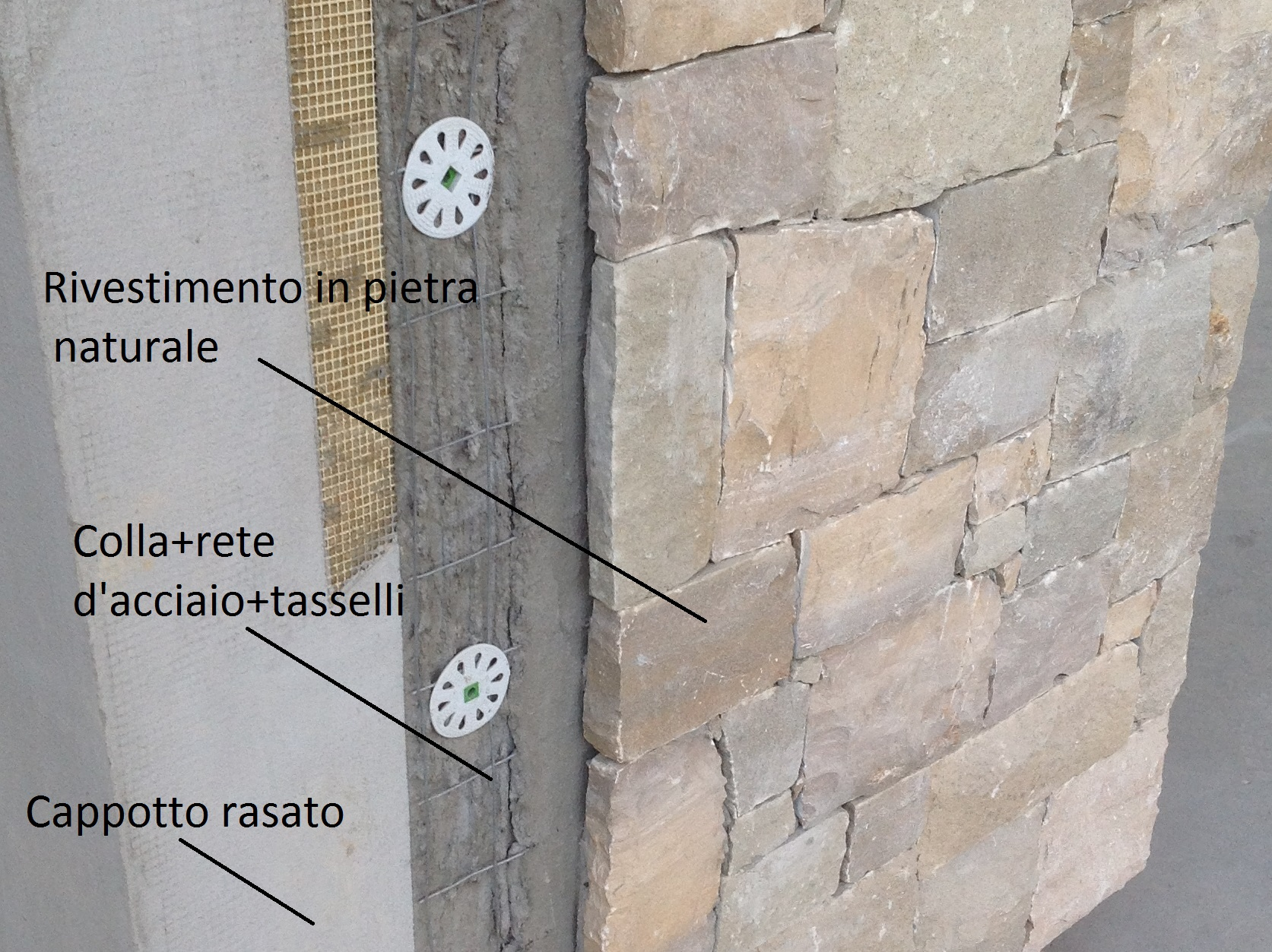 Rivestimento Esterno In Pietra Naturale : Rivestire cappotto con pietra rivestimento cappotto esterno